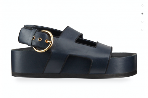 Neous navy leather platform sandals, $695, available at Neimanmarcus.com.