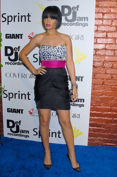LOS ANGELES, CA - JUNE 03:  Singer Rihanna arrives at Jay-Z and GIANT Magazine's MTV Movie Awards After Party at Sugar on June 3, 2007 in Los Angeles in Los Angeles, California.  (Photo by Charley Gallay/Getty Images)