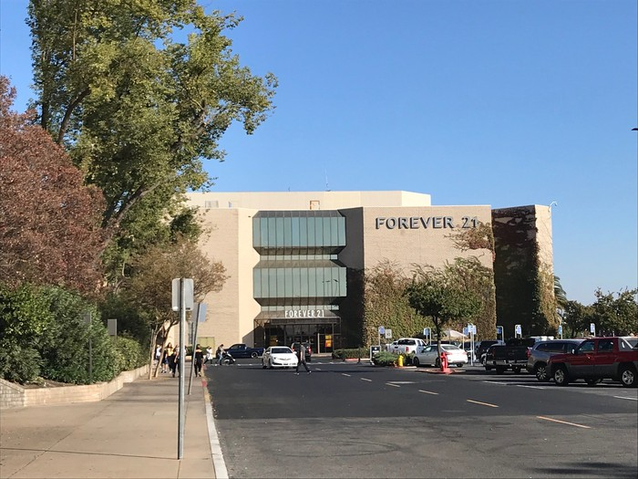 The exterior of the former Forever 21 at Vintage Faire Mall.