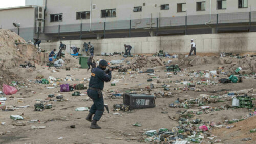 S.Africa president to rally base as riot cleanup goes on
