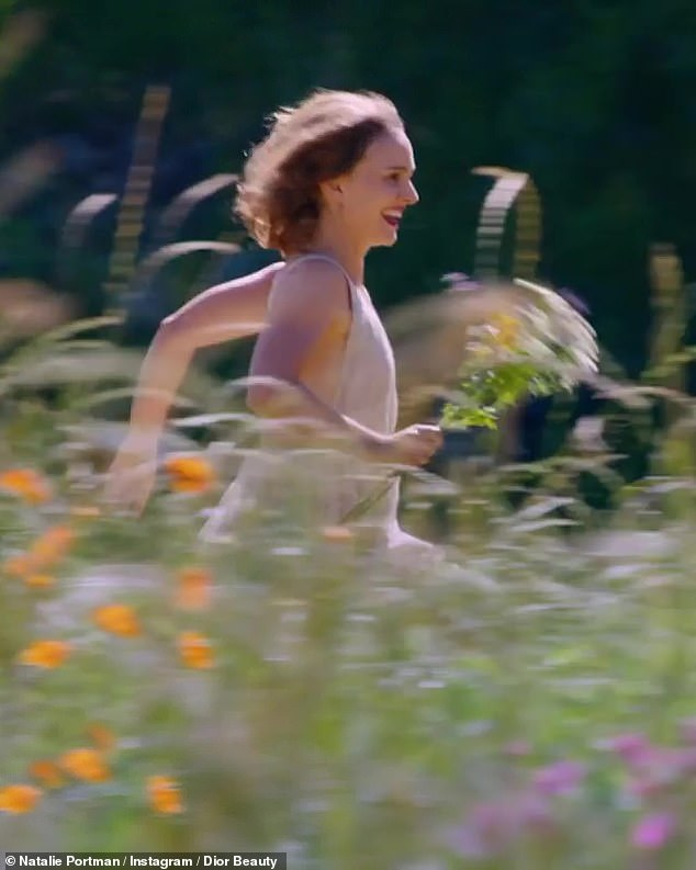 Running wild: Good thing she puts time in at the gym because Natalie had to be very active in this commercial