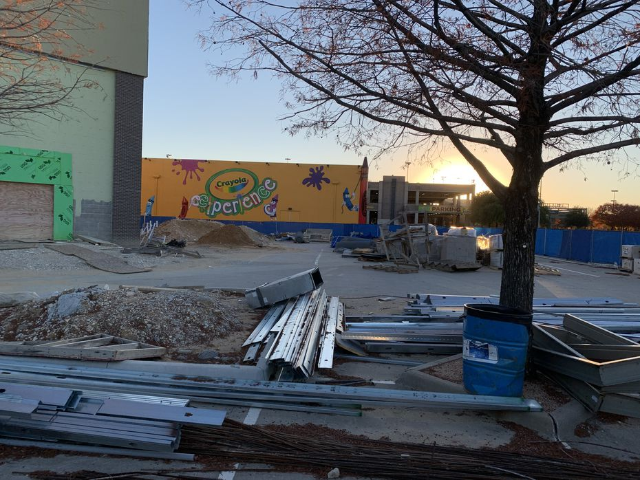 The construction site at The Shops at Willow Bend in West Plano last year as work on a movie theater was halted.