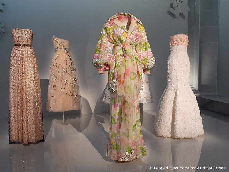 beautiful floral dresses in enchanted garden