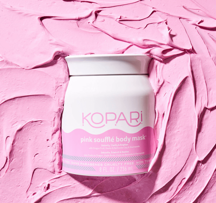 Pink Soufflé Body Mask With Niacinamide, Kaolin Clay, Dragon Fruit & Coconut Oil