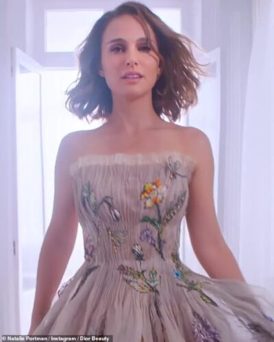 Natalie Portman romances a mysterious silver fox in flirty new commercial for Miss Dior